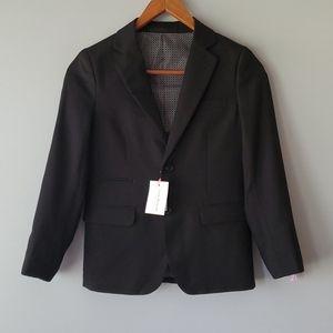 Isaac Mizrahi Black Wool Blend Suit Blazer Boys 10